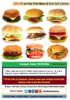 10% off on Burger for DAV Public School's students & staff – Red Salt Cuisine