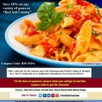 Flat 10% off Pizzas and Pastas for Students & staff of Inderprastha Dental College & Hospital, GZB
