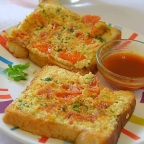 Chili Cheese Toast – A quick Breakfast meal for Kids