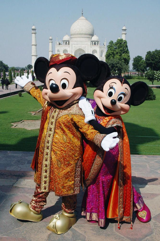 Mickey & Minnie In Traditional Indian Attire