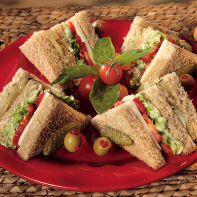Veg Club Sandwich 1