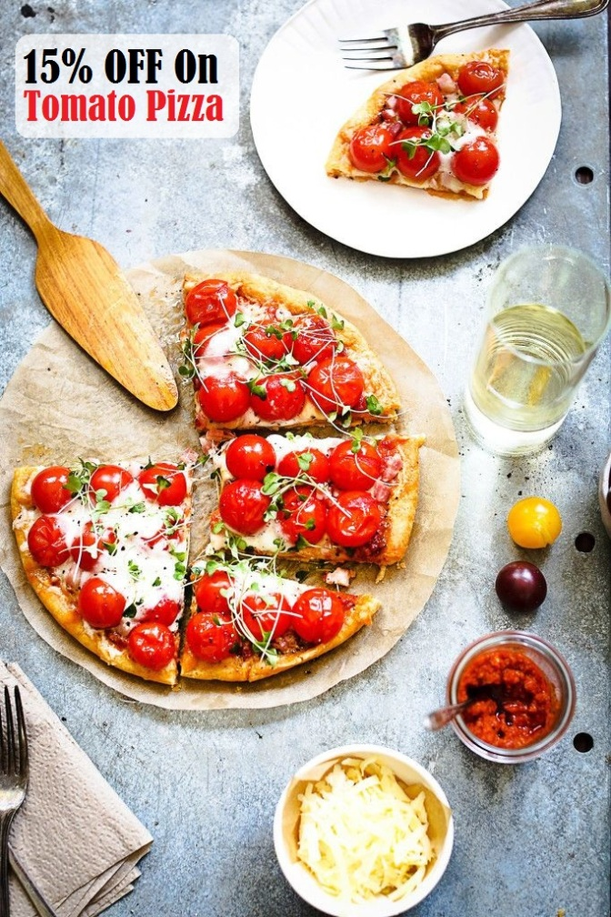 15% off on Tomato Pizza