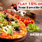 Flat 15% off on Your Favorite Pizza at Red Salt Cuisine Restaurant WSM