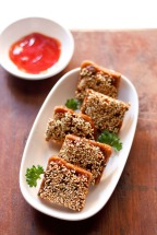 Indo-Chinese Seasame Cheese Toast – A Great Start for the Bright Morning..!!