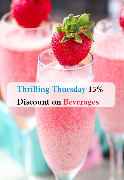 Thursday 15% Discount on Beverages 1
