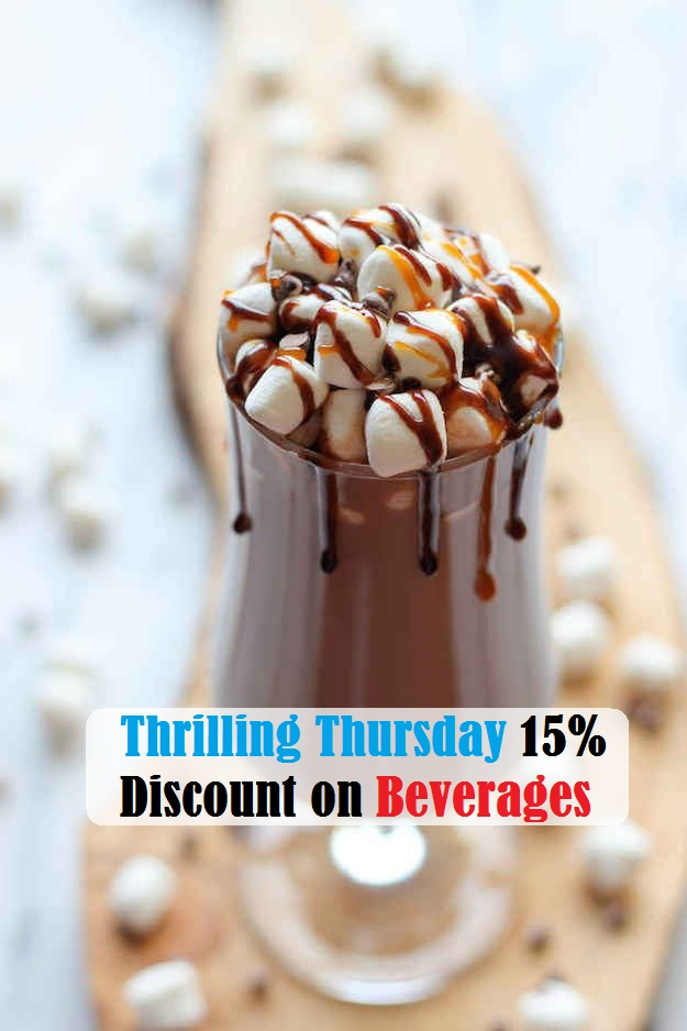 Thursday 15% Discount on Beverages