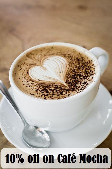 10% off on Café Mocha
