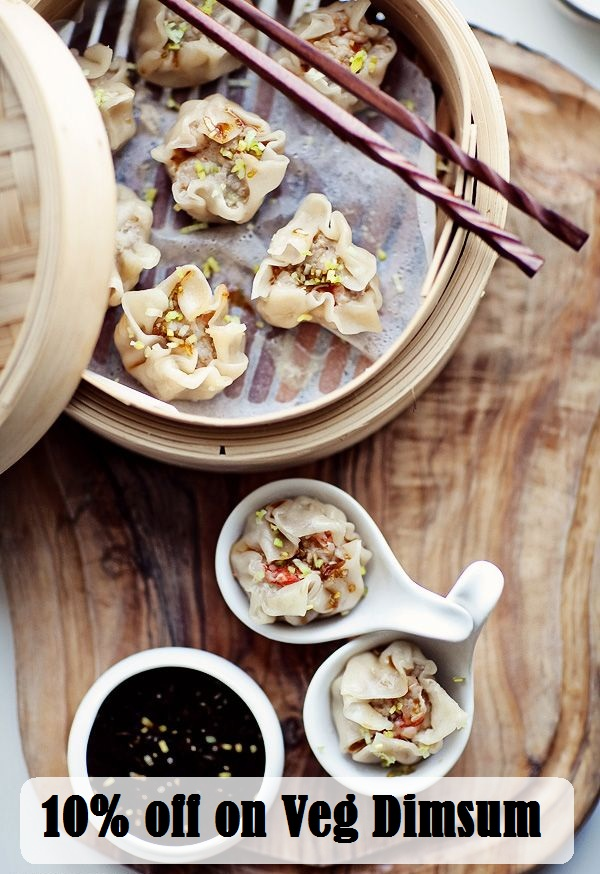 10% off on Veg Dimsum