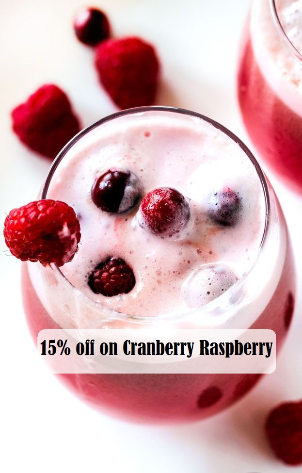 15% off on Cranberry Raspberry